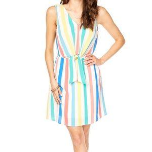 Pastel front tie summer dress